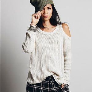 Free People Slouch Cold Shoulder Sweater